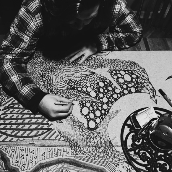 Me working on one of the very first collaborative boards.